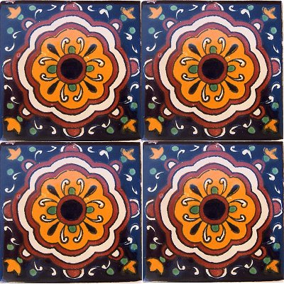 Full Cupula Talavera Mexican Tile Close-Up