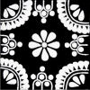 White/Black Madrid Talavera Mexican Tile
