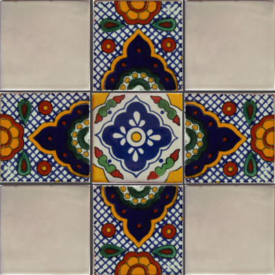 Terni Talavera Mexican Tile Close-Up