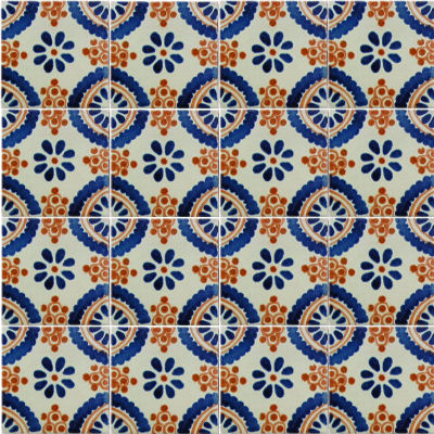 Blue Madrid Talavera Mexican Tile Details