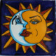 Sun and Moon Talavera Mexican Tile