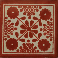 Red Damasco Talavera Mexican Tile
