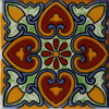 Hearts Talavera Mexican Tile
