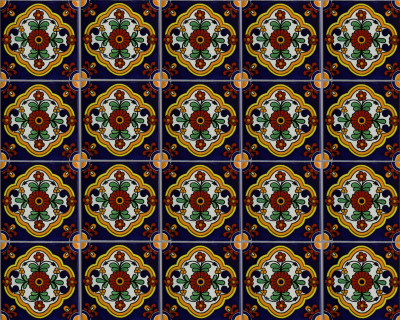 Zarza Talavera Mexican Tile Close-Up