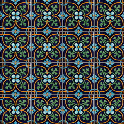 Soyopa Talavera Mexican Tile Close-Up