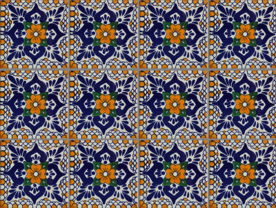 Moris Talavera Mexican Tile Close-Up
