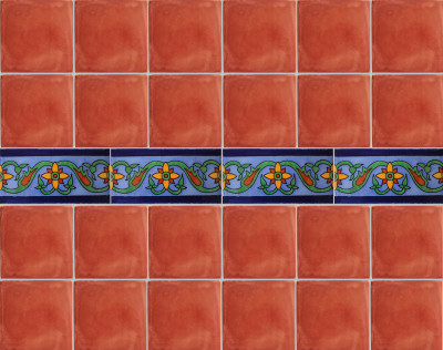 Rollan Subway Mexican Tile Close-Up