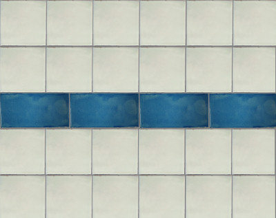 Aqua Subway Talavera Tile Close-Up