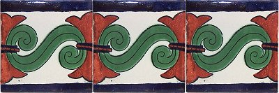 Taxco Talavera Mexican Tile Close-Up