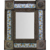 Small Brown Mesh Tile Mexican Mirror